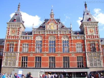 Holandia, Amsterdam, dworzec główny Amsterdam Centraal