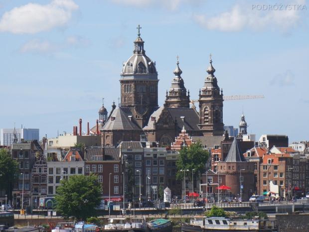 Holandia, Amsterdam, Wieża Płaczu (Schreierstoren) i Bazylika św. Mikołaja (Basiliek van de H. Nicolaas)