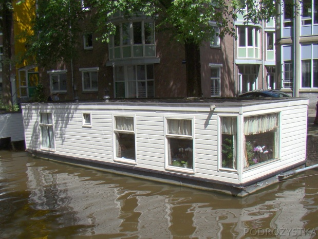 Holandia, Amsterdam, domek na kanale