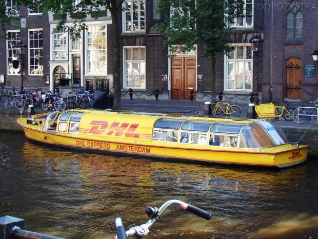 Holandia, Amsterdam, wodny DHL