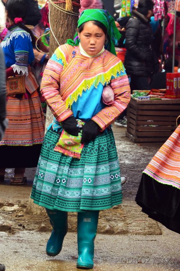Wietnam, Bac Ha, kobieta z mniejszości Hmong