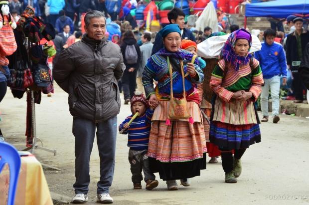 Wietnam, Bac Ha, rodzina mniejszości Hmong
