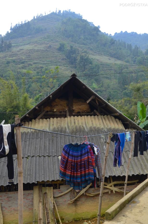 Wietnam, okolice Bac Ha, widok z wioski