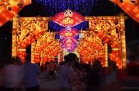 Singapur, CNY 2015, dekoracje w okolicy Mariny