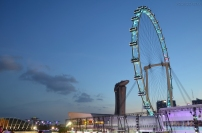 Singapur, parada Chingay 2015, widok z trybun Pit Building F1