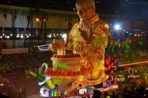 Singapur, parada Chingay 2015, tort na 50-te urodziny SIngapuru
