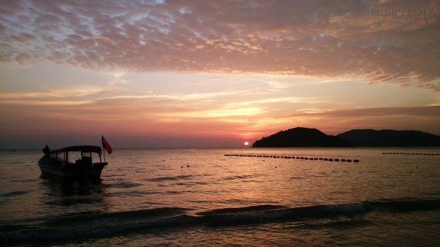 Malezja, wyspa Langkawi, zachód słońca