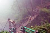 Wietnam, okolice Sa Pa, most nieopodal Wodospadu Miłości