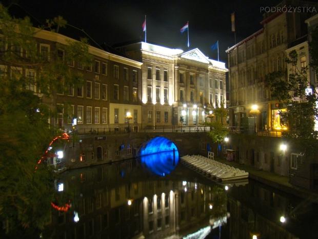Holandia, Utrecht, centrum miasta nocą
