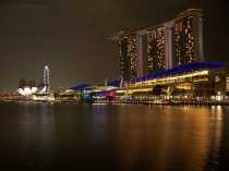 Singapur, Marina Bay Sands Hotel, Art Science Museum i Singapore Flyer