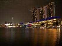 Singapur, Marina Bay Sands Hotel, Art Science Museum i Singapore Flyer