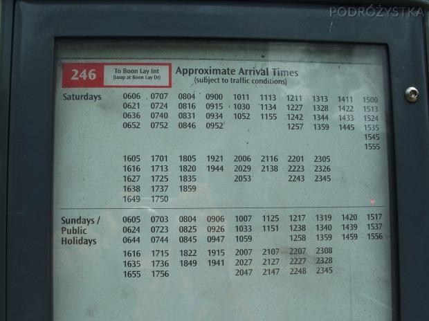 Singapur, rozkład jazdy jest tylko przybliżony