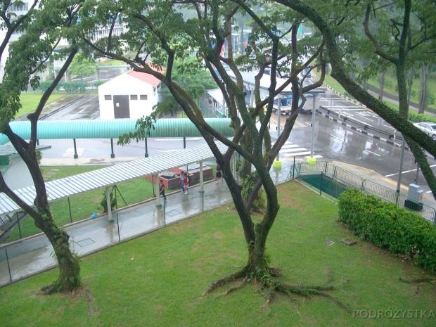 Singapur, zadaszone chodniki