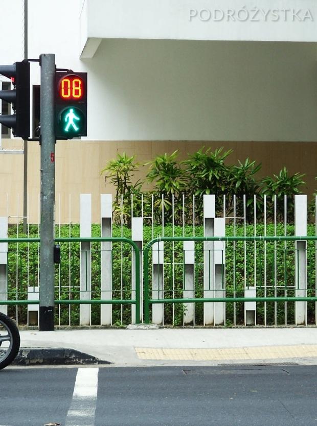 Singapur, przejście dla pieszych z licznikiem
