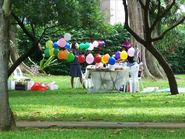 Singapur, impreza urodzinowa w Toa Payoh Town Park