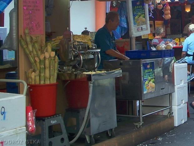 Singapur, Chinatown, sprzedawca soku z trzciny cukrowej