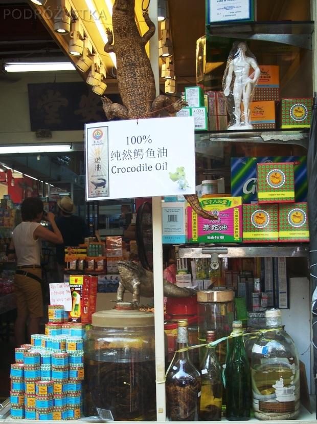 Singapur, Chinatown, olej z krokodyla?!