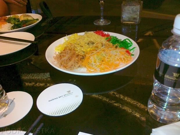 Singapur, Chiński Nowy Rok 2013, Lo-Hei, składniki gotowe..