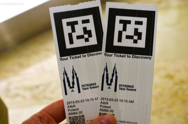 Malezja, Kuala Lumpur, bilety wstępu na Petronas Towers