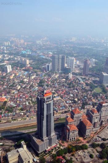 Malezja, Kuala Lumpur, Petronas Towers, widok na miasto z 86. piętra