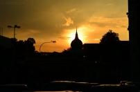 Malezja, Kuala Lumpur, zachód słońca nad Bangunan Sultan Abdul Samad