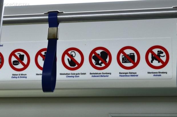 Malezja, Kuala Lumpur, zakazy między innymi całowania się (nieobyczajnego zachowania)