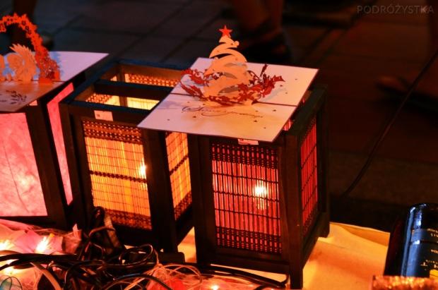 Malezja, Melacca, Night Market - nocny market, świąteczne kartki