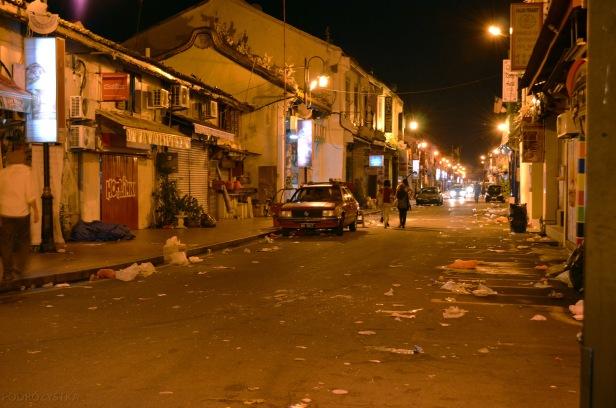 Malezja, Melacca, Night Market - nocny market, po godzinach..