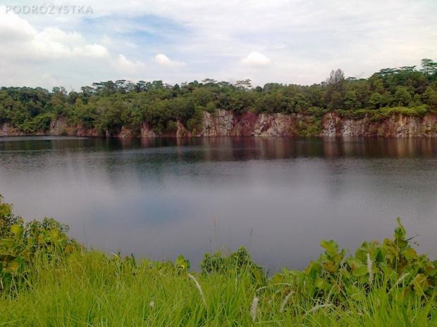 Singapur, wyspa Pulau Ubin, jezioro na wyspie