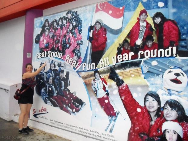 """Singapur, Snow City - Śnieżne Miasto, """"prawdziwy"""" śnieg"""
