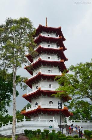 Singapur, Chinese and Japanese Garden - Ogród Chiński i Japoński - 7-piętrowa pagoda
