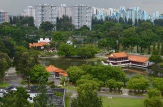 Singapur, Chinese and Japanese Garden - Ogród Chiński i Japoński - widok z 7-mego piętra pagody
