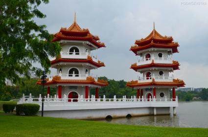 Singapur, Chinese and Japanese Garden - Ogród Chiński i Japoński - Twin Pagodas (Pagody Bliźniacze)