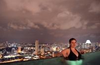 Singapur, w basenie Marina Bay Sands Hotel