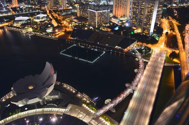 Singapur, widok ze Sky Parku w Marina Bay Sands Hotel