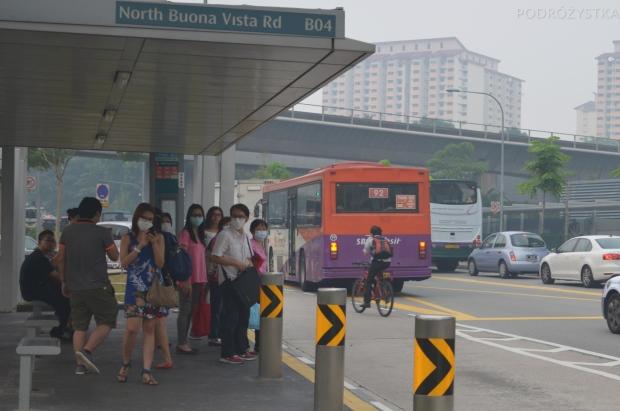 Singapur, mało kto odsłania twarz