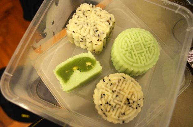 Singapur, warsztaty robienia Mooncake'ów, dół nie wyszedł zbyt perfekcyjnie, ale góra - idealnie!