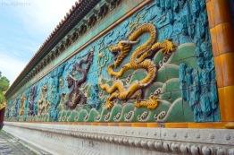 Chiny, Pekin, Zakazane Miasto, Ściana Dziewięciu Smoków (Nine Dragon Wall/Screen)