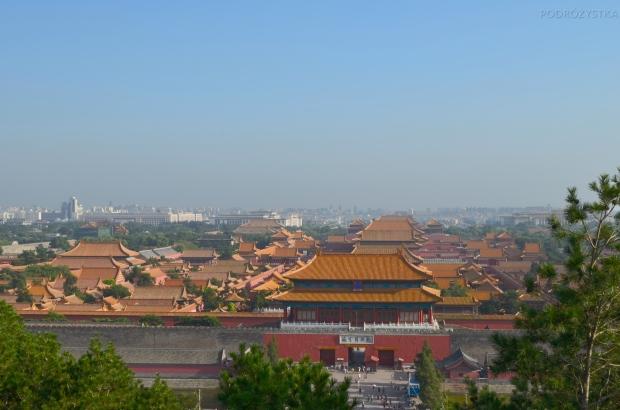 Chiny, Pekin, Jingshan Park, widok na Zakazane Miasto