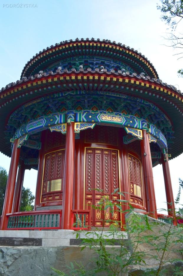 Chiny, Pekin, Jingshan Park, pawilon na wzgórzu