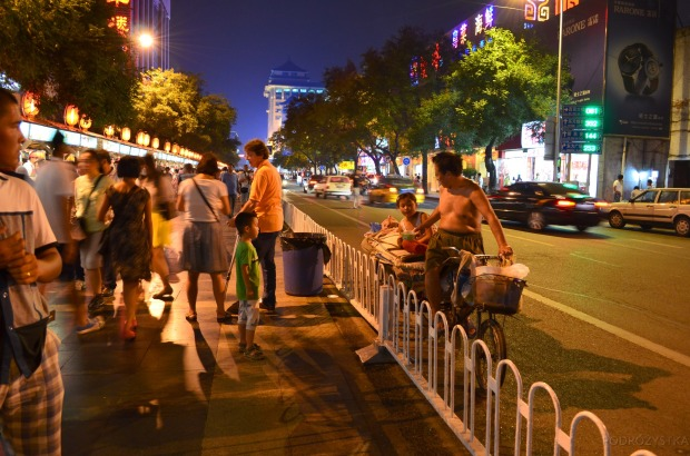Chiny, Pekin, Night Market na Donghuamen Street