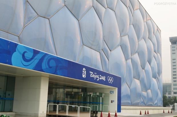 Chiny, Pekin, Water Cube - basenowy kompleks olimpijski