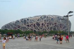 Chiny, Pekin, Stadion Olimpijski w kształcie ptasiego gniazda
