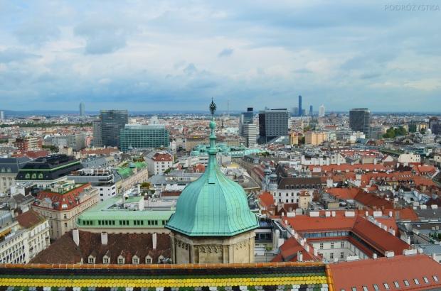 Austria, Wiedeń, panorama miasta z katedry Św. Szczepana