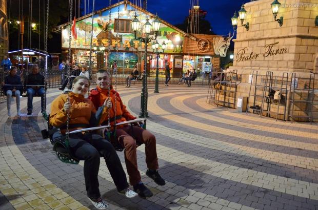 Austria, Wiedeń, park rozrywki Prater, karuzela na rozgrzewkę