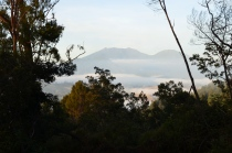 Indonezja, wyspa Java, widok z wulkanu Ijen