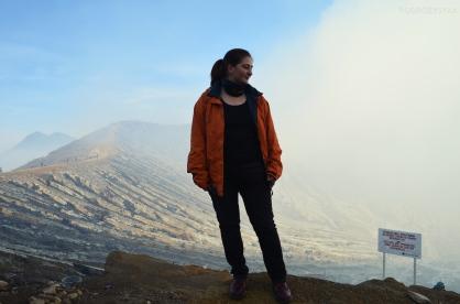 Indonezja, wyspa Java, wulkan Ijen, grań/zbocze krateru :)