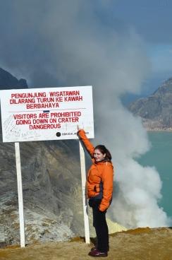 Indonezja, wyspa Java, wulkan Ijen, krater!