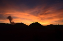 Indonezja, wyspa Java, okolice wulkanu Bromo, zachód słońca