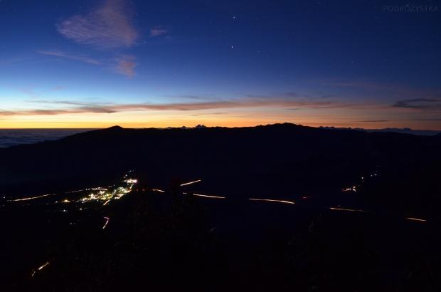 Indonezja, wyspa Java, okolice wulkanu Bromo, wschód słońca